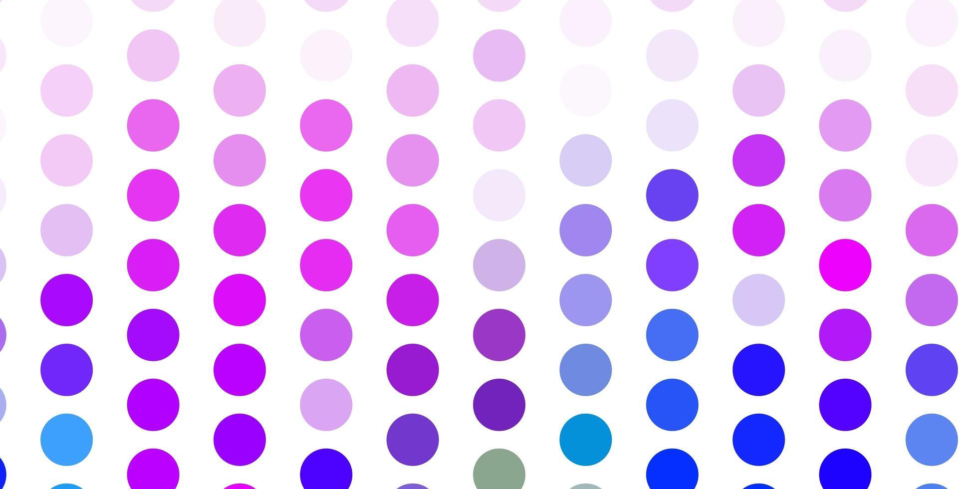 layout de vetor rosa claro, azul com formas de círculo