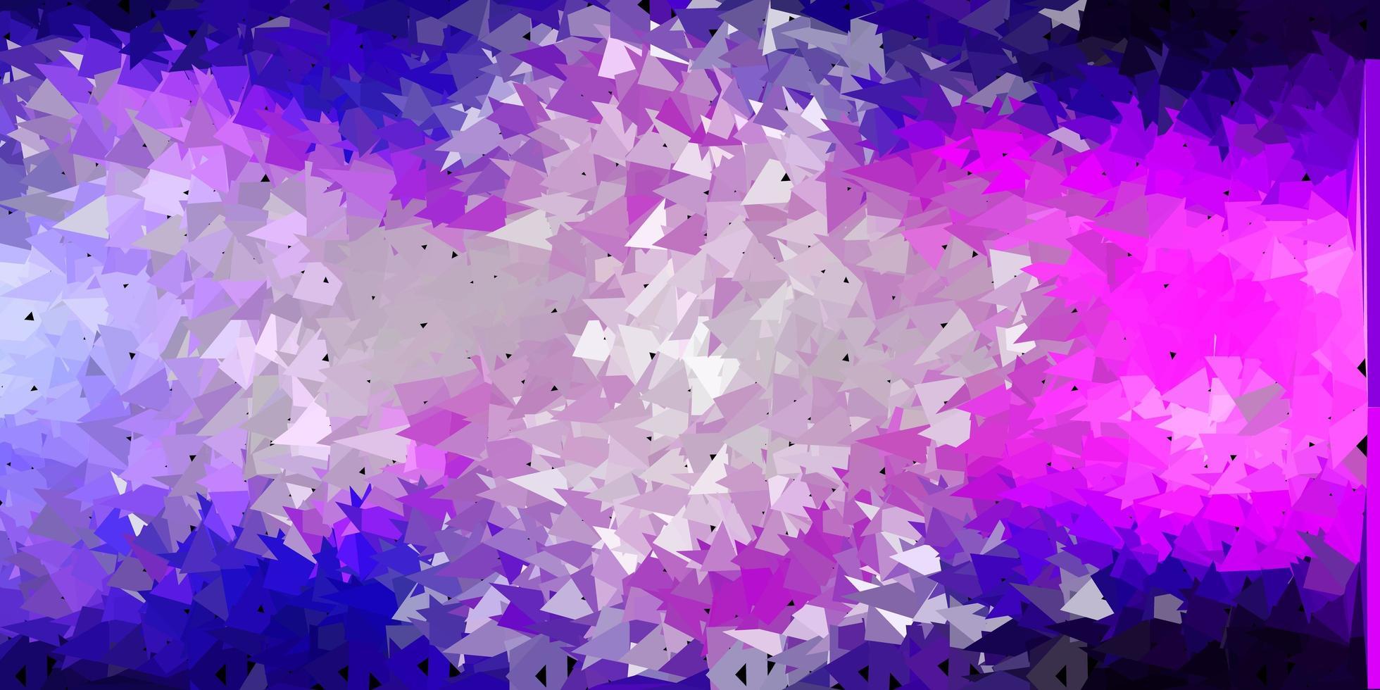 luz rosa vetor abstrato triângulo padrão.