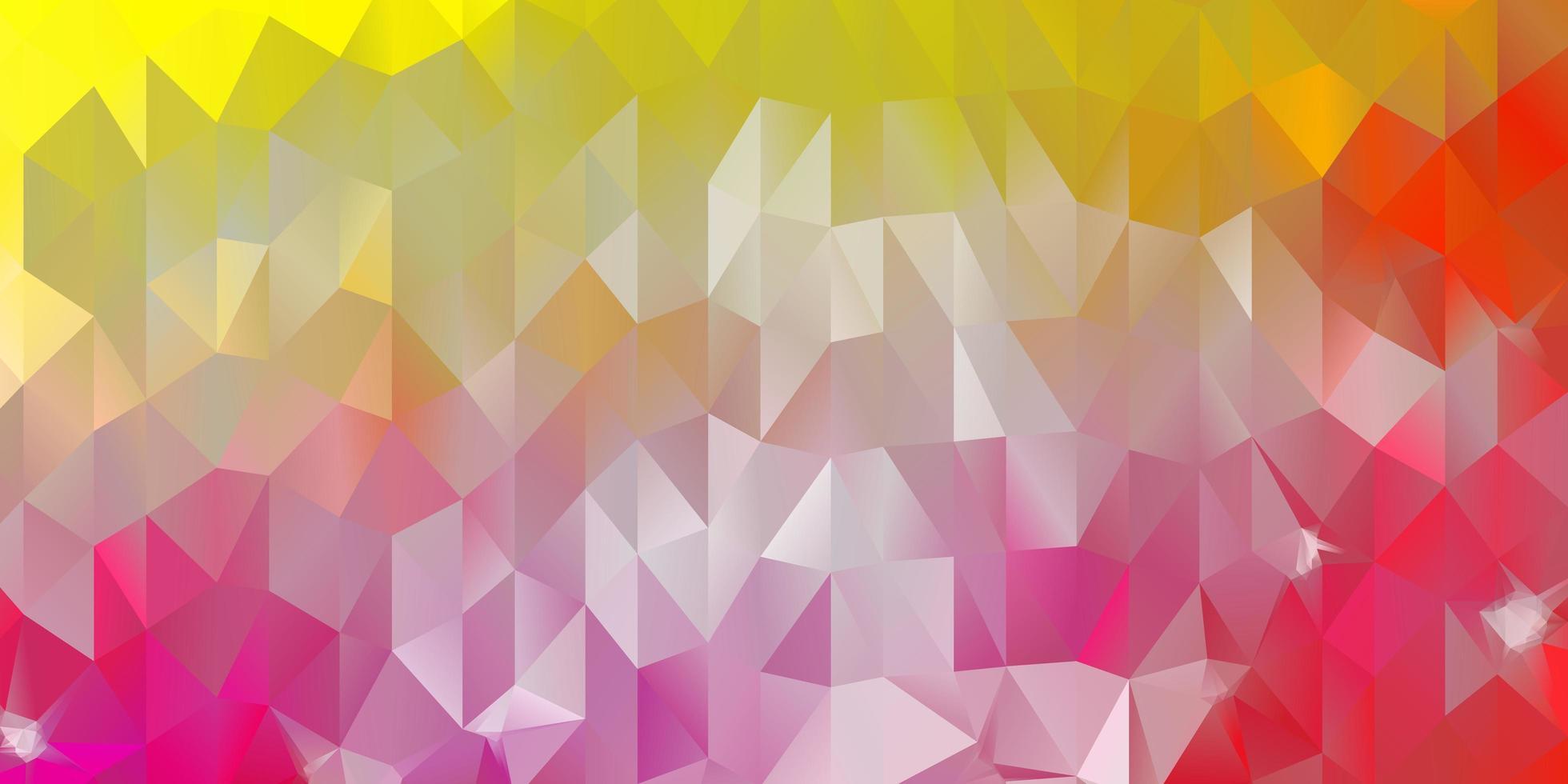 layout poligonal geométrico do vetor rosa claro e amarelo.