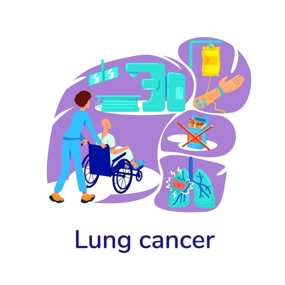 ilustração em vetor conceito plano oncologia