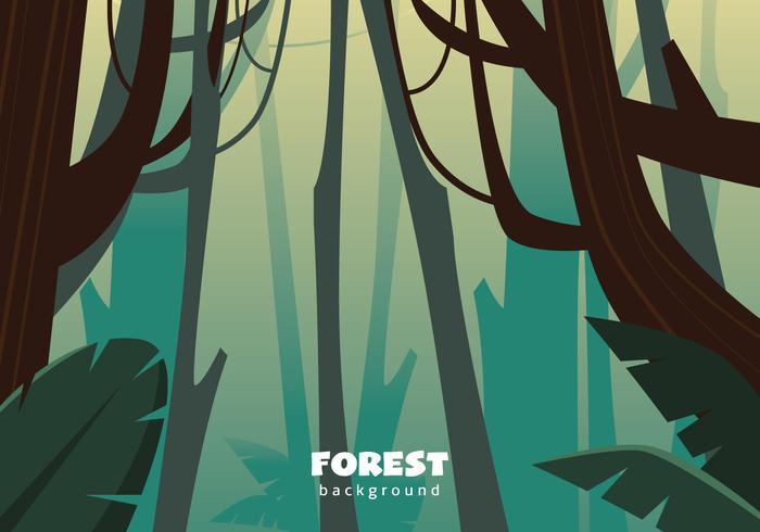 Ilustração abstrata da selva vetor
