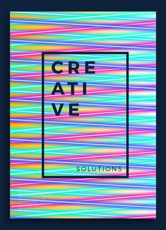 pôster de néon, design retro, padrão de ficção científica dos anos 80, plano de fundo futurista. modelo de folheto. formas, movimento, ilustração vetorial geométrica abstrata para convite de festa de música, banner minimalista, impressão de 1980. vetor