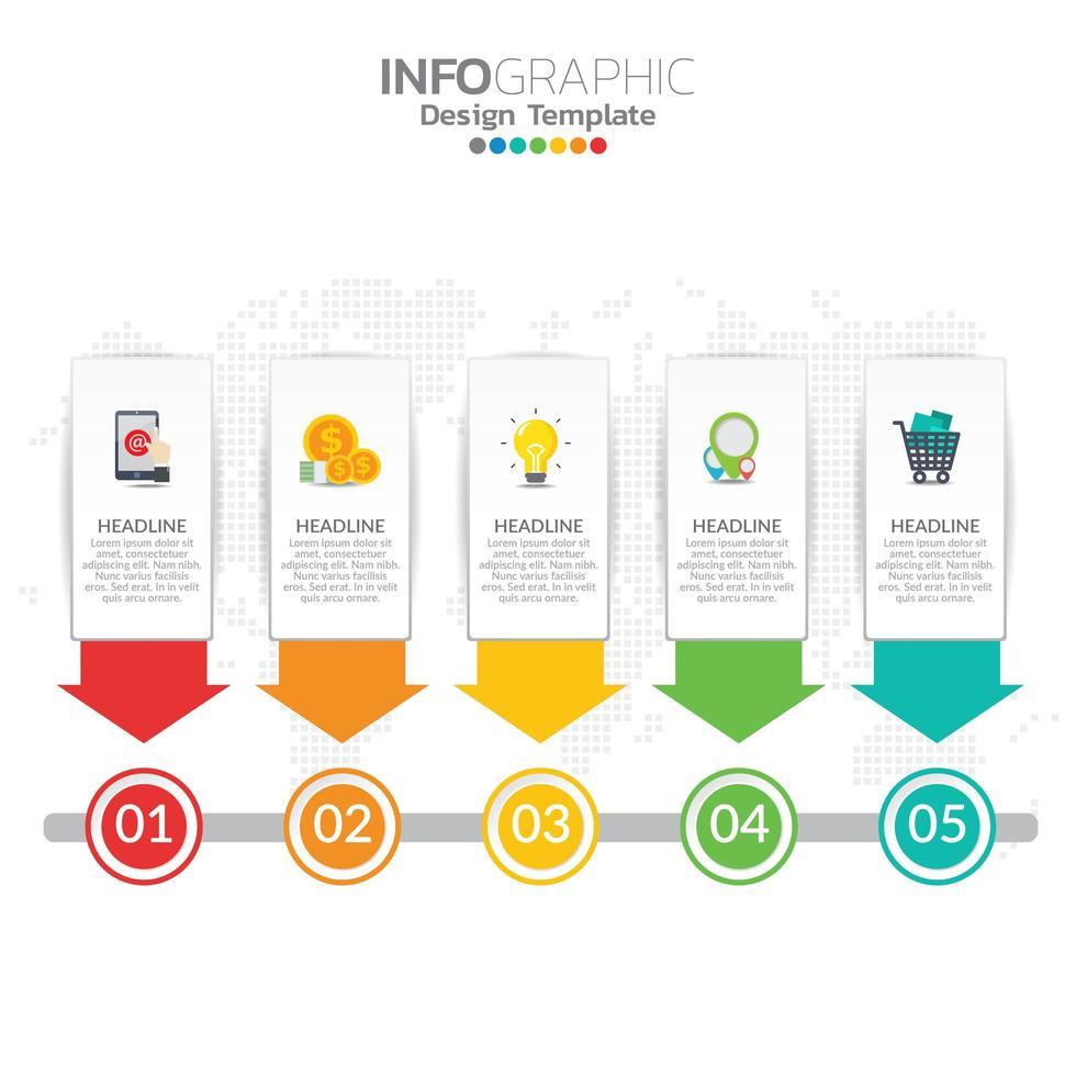 infográfico ilustração do conceito de seo infográficos com modelo de layout de negócios. vetor