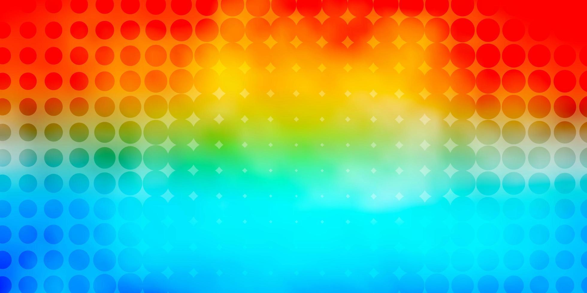 pano de fundo vector azul e vermelho claro com círculos.