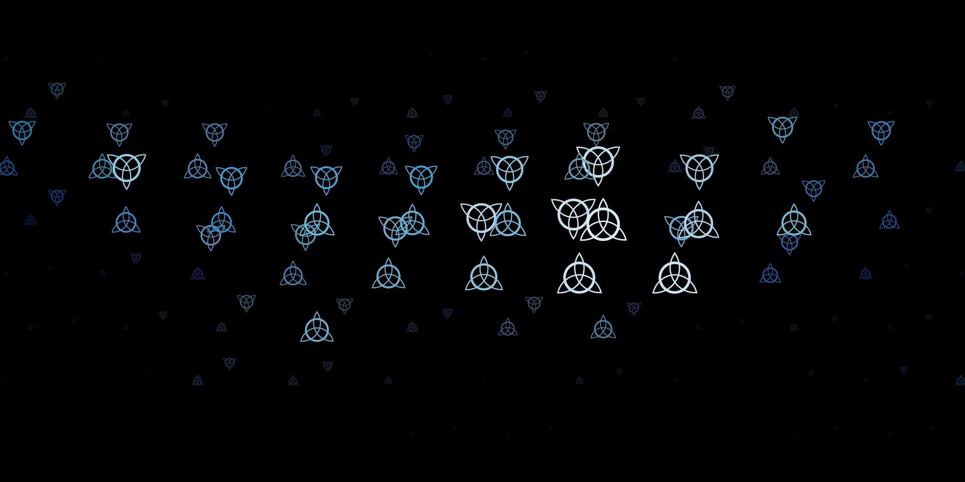 padrão de vetor azul escuro com elementos mágicos.