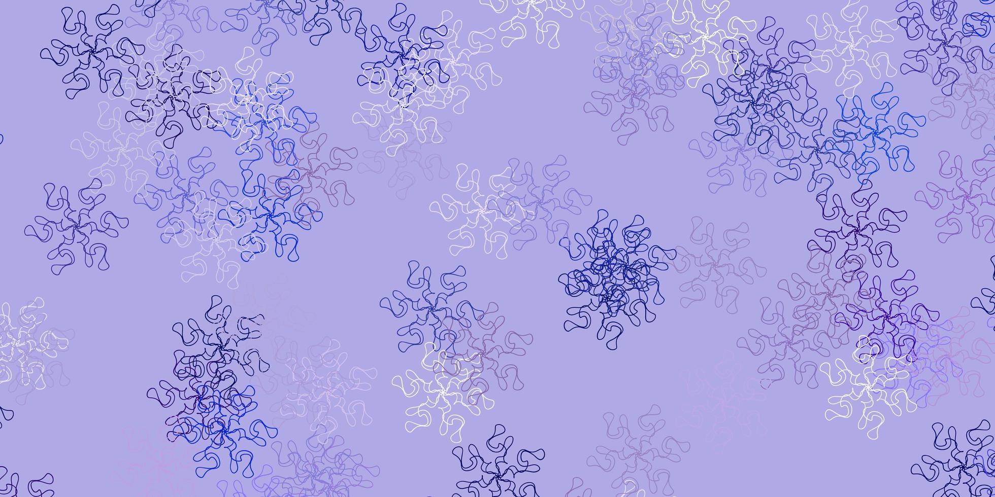 arte natural do vetor rosa claro, azul com flores.