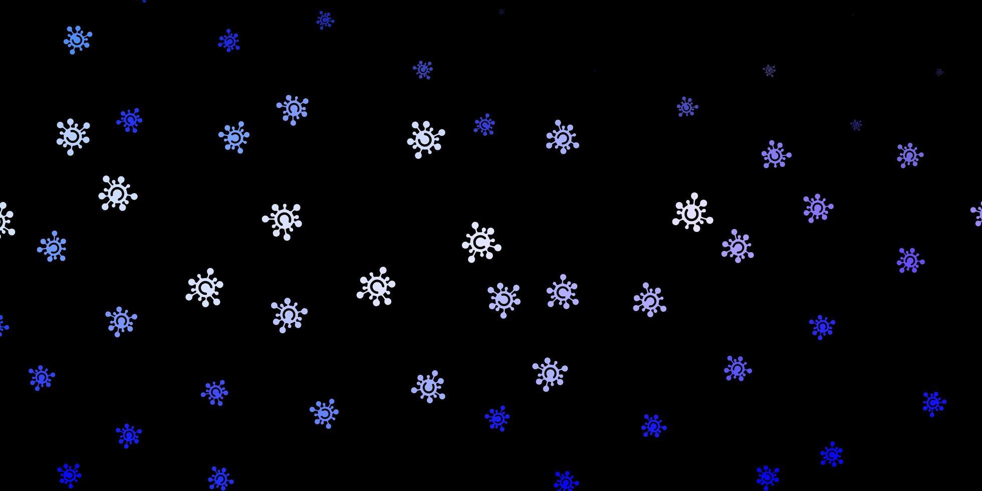 textura vector roxo escuro com símbolos de doença.