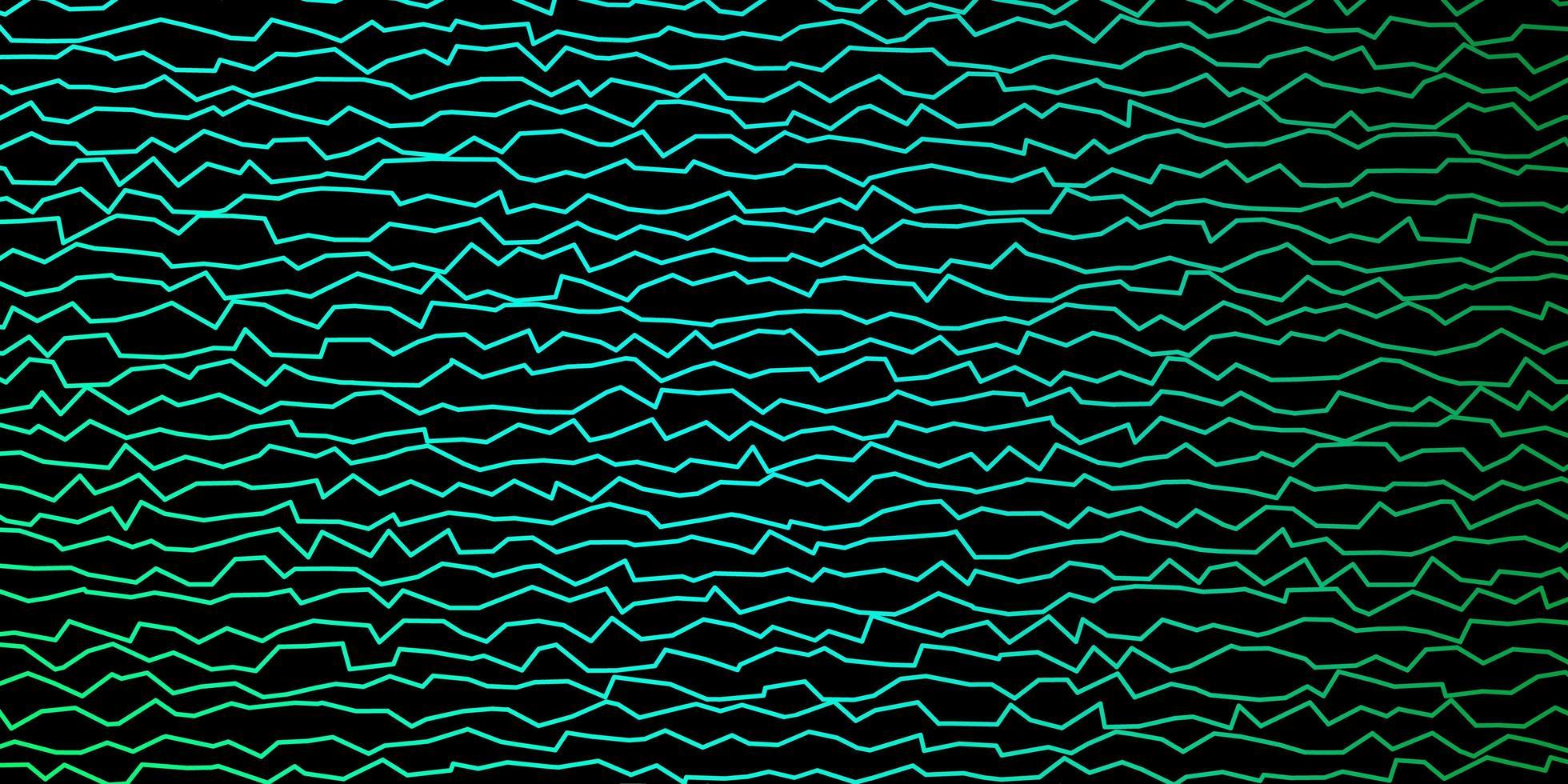 modelo de vetor verde escuro com linhas curvas.