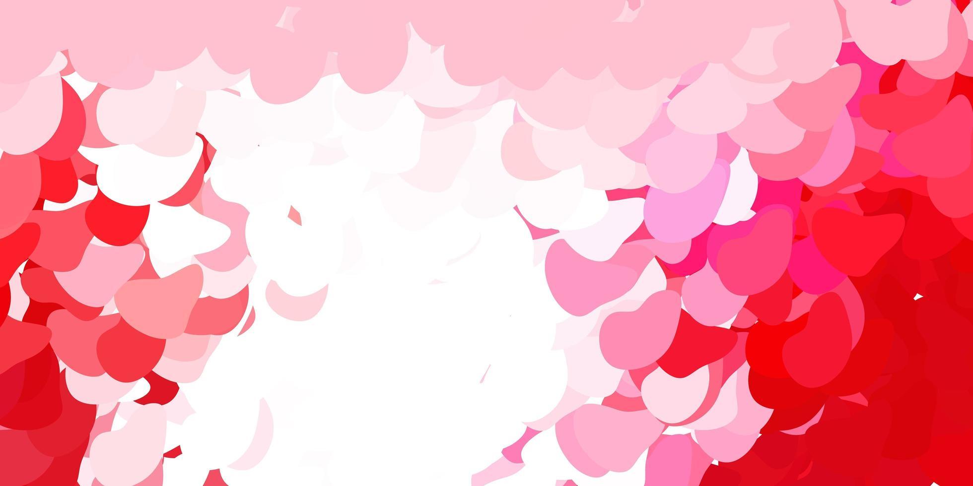 padrão de vetor rosa claro, vermelho com formas abstratas.