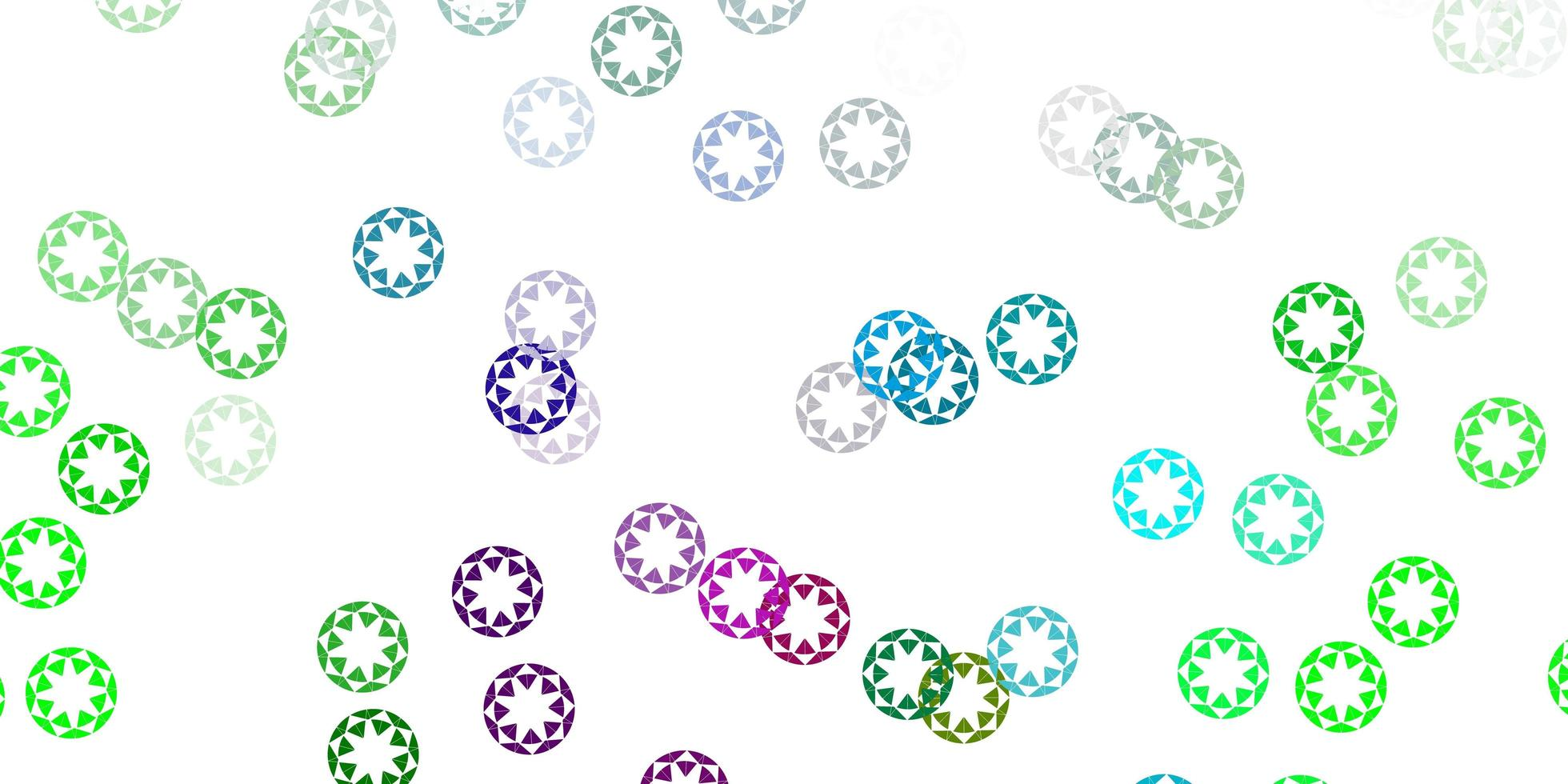 padrão de luz rosa, verde vetor com esferas.