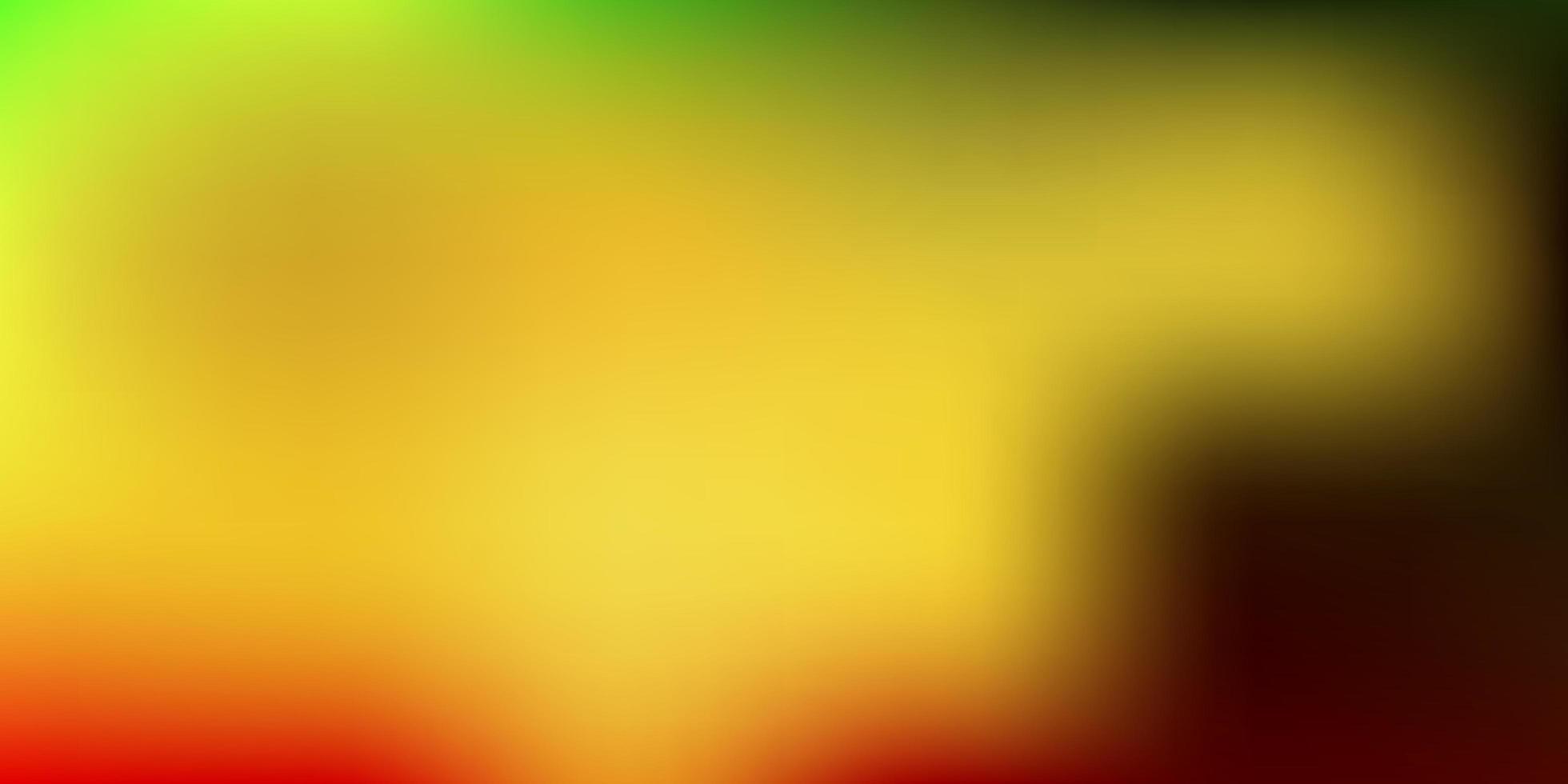 desenho de borrão de gradiente de vetor verde e amarelo escuro.