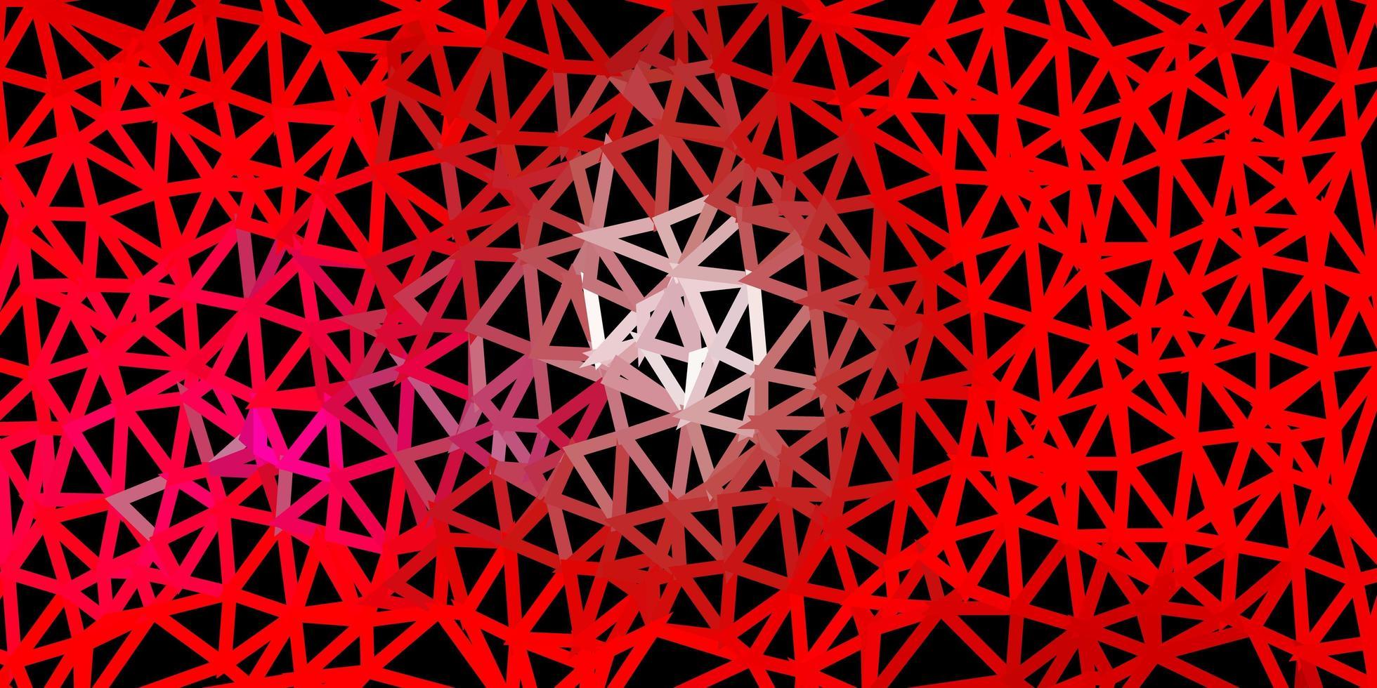 projeto do mosaico do triângulo do vetor rosa claro e vermelho.