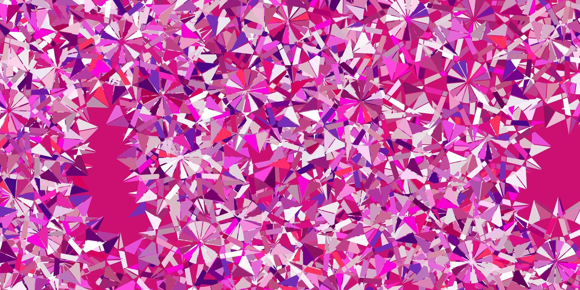 luz roxa vector belo cenário de flocos de neve com flores.