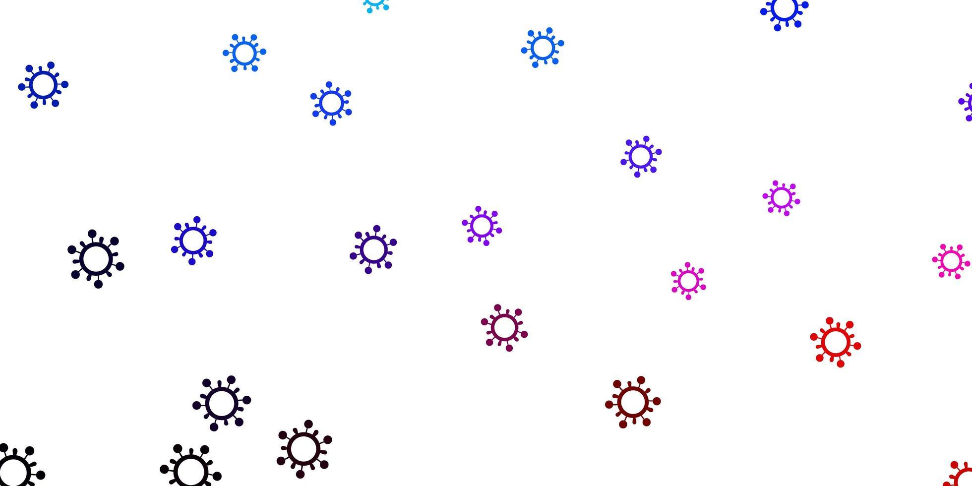modelo de vetor azul claro e vermelho com sinais de gripe