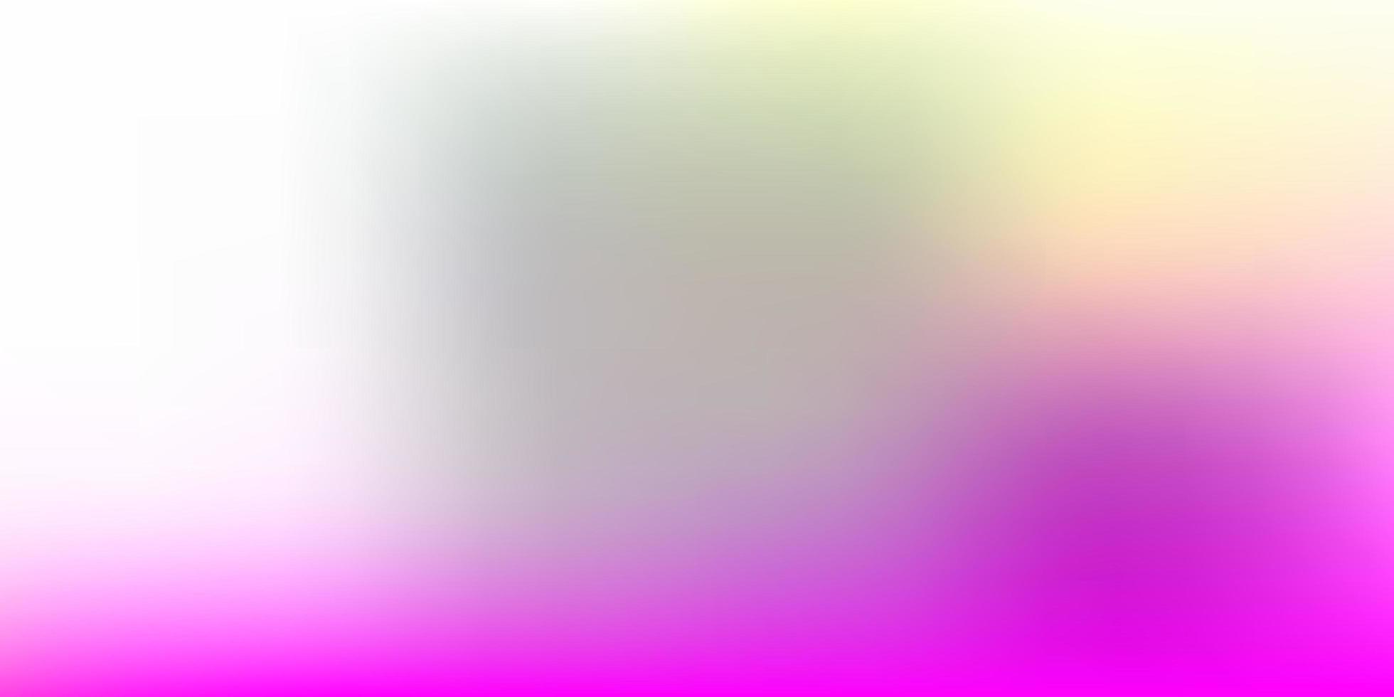 padrão de desfoque gradiente de vetor rosa claro e amarelo.