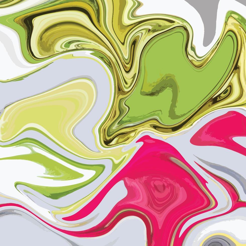 textura de mármore líquido com fundo colorido abstrato vetor