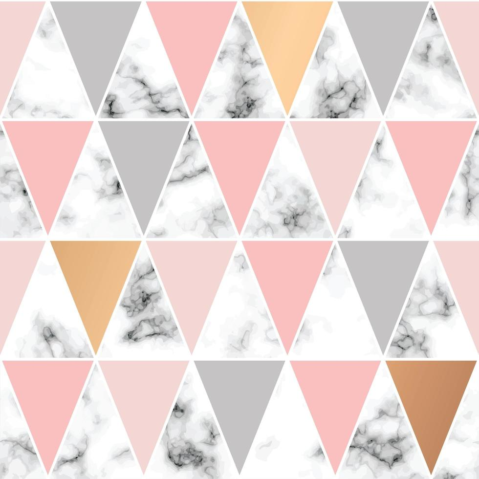 projeto padrão sem emenda com triângulos e linhas geométricas douradas vetor