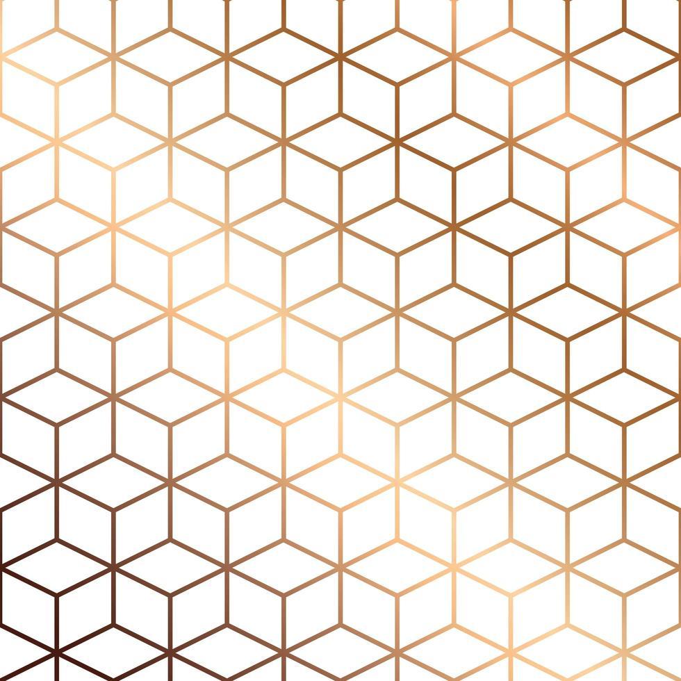 textura de mármore vetorial, design de padrão uniforme com linhas geométricas douradas e cubos, superfície de mármore preto e branco, fundo moderno e luxuoso vetor