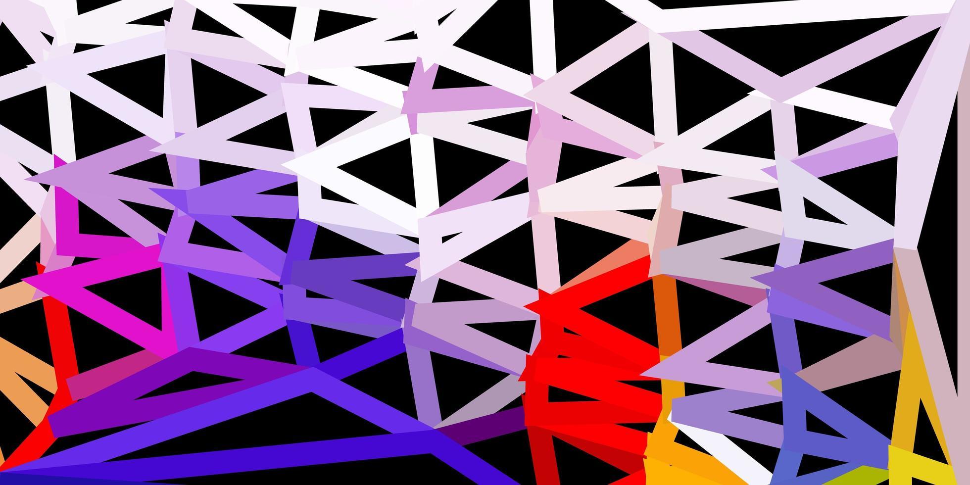 azul escuro, vermelho padrão de triângulo abstrato de vetor. vetor