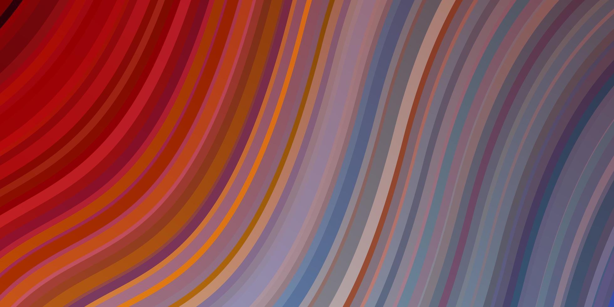 modelo de vetor multicolor de luz com curvas.