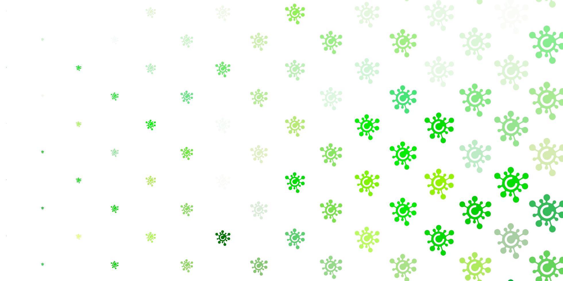modelo de vetor verde claro e amarelo com sinais de gripe