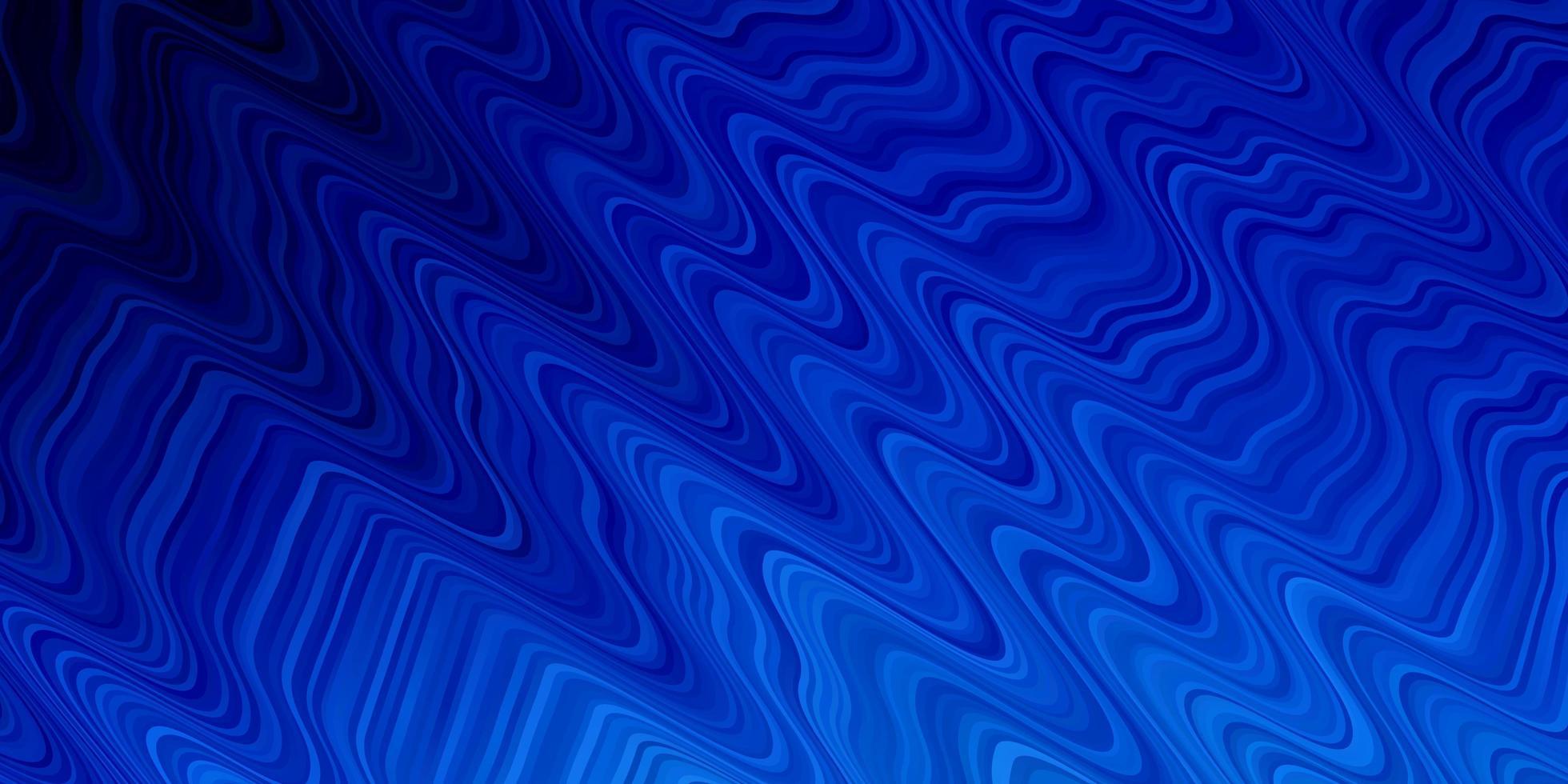 pano de fundo vector azul claro com curvas.