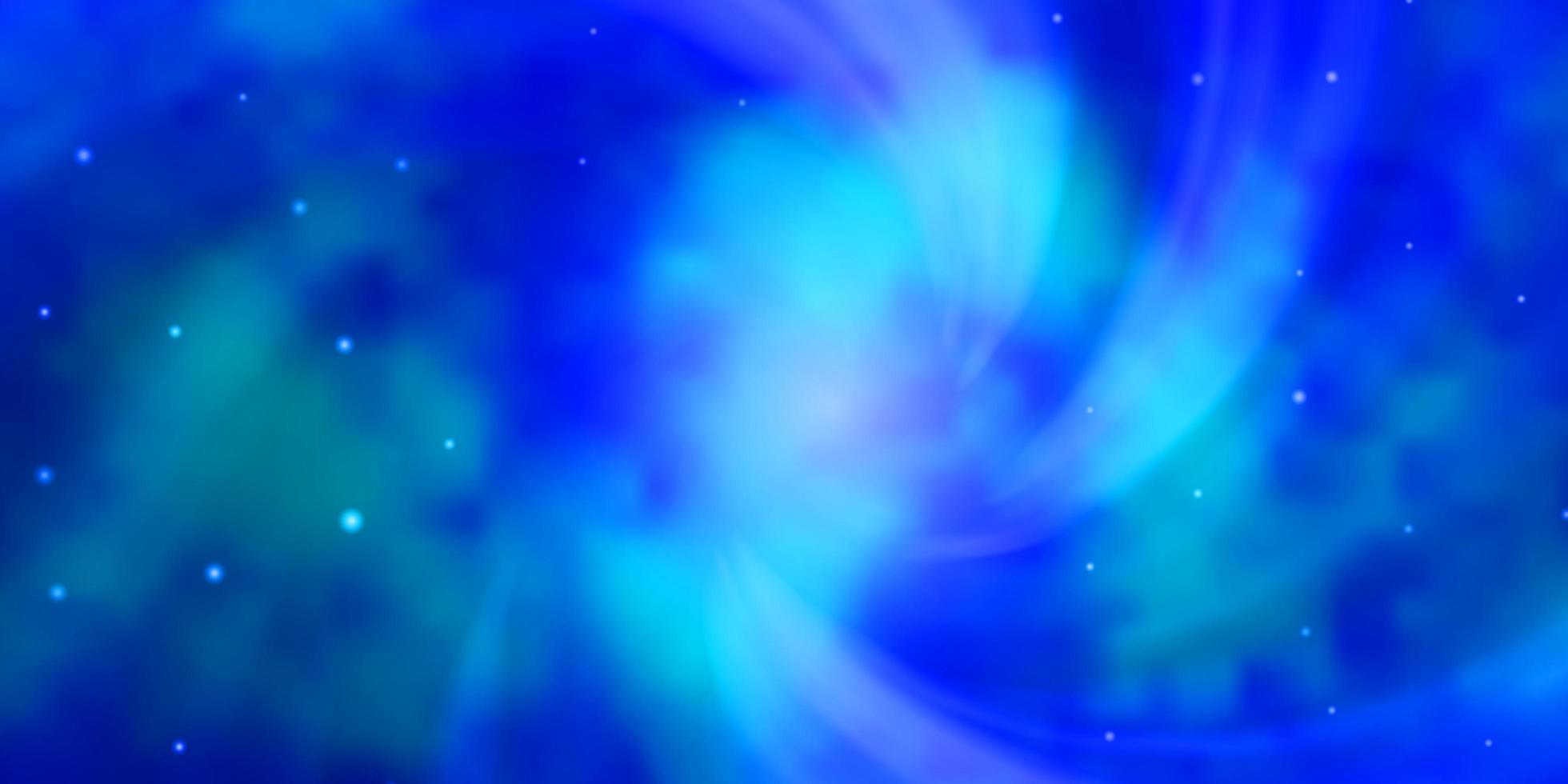 padrão de vetor azul claro com estrelas abstratas.