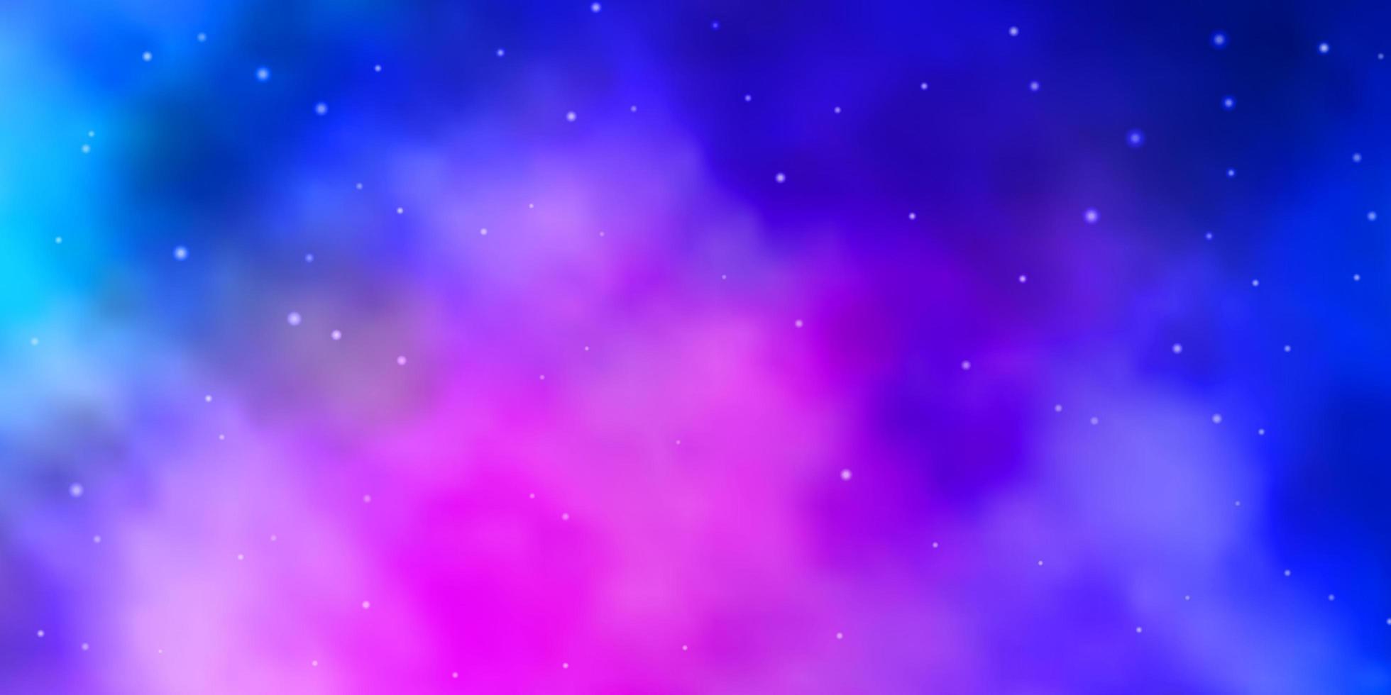 padrão de vetor azul e vermelho claro com estrelas abstratas.