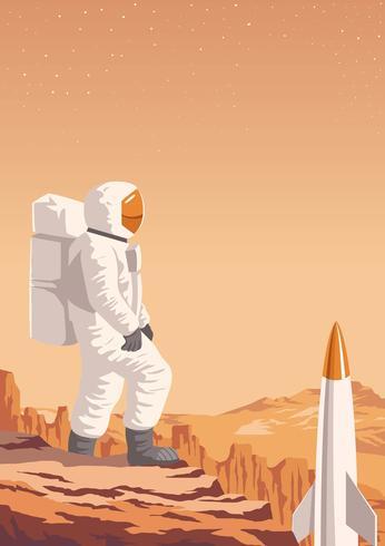 Missão de Exploração de Marte vetor