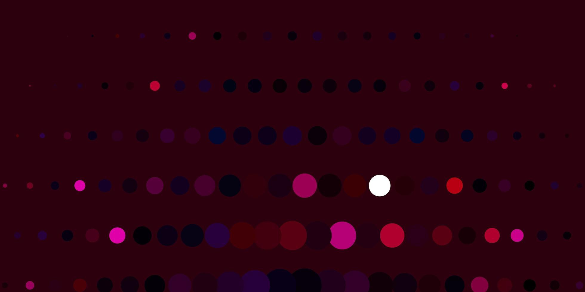 textura vector roxo escuro com círculos.