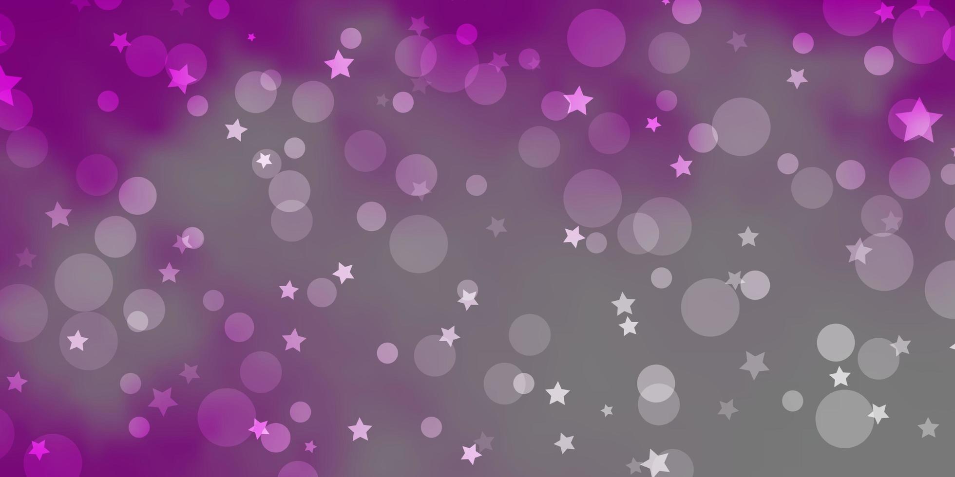padrão de vetor rosa claro com círculos, estrelas.