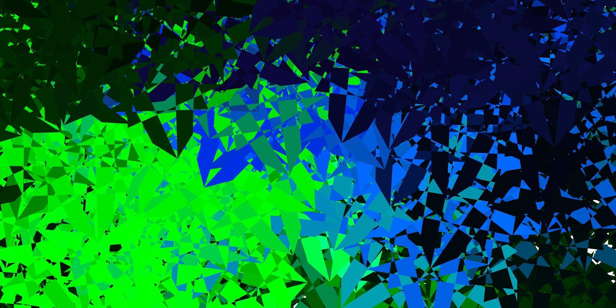 padrão de vetor multicolorido escuro com formas poligonais.