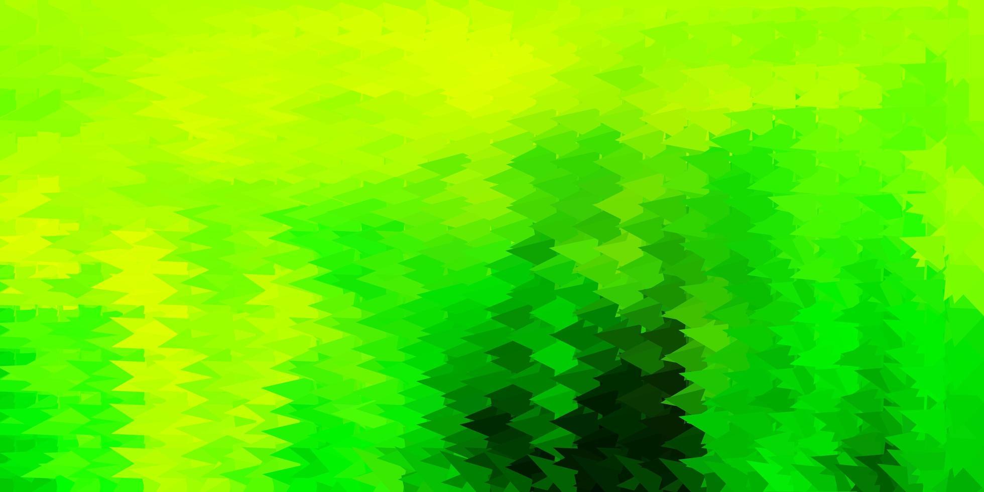 papel de parede poligonal geométrico de vetor verde e amarelo claro.