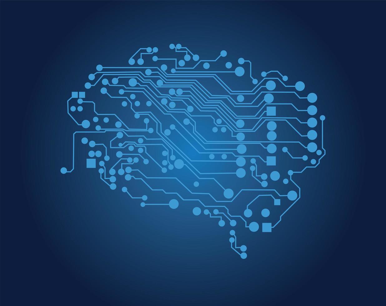 cérebro humano, conceito de pensamento lógico vetor