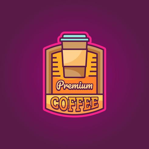 Logotipo Premium do Café vetor