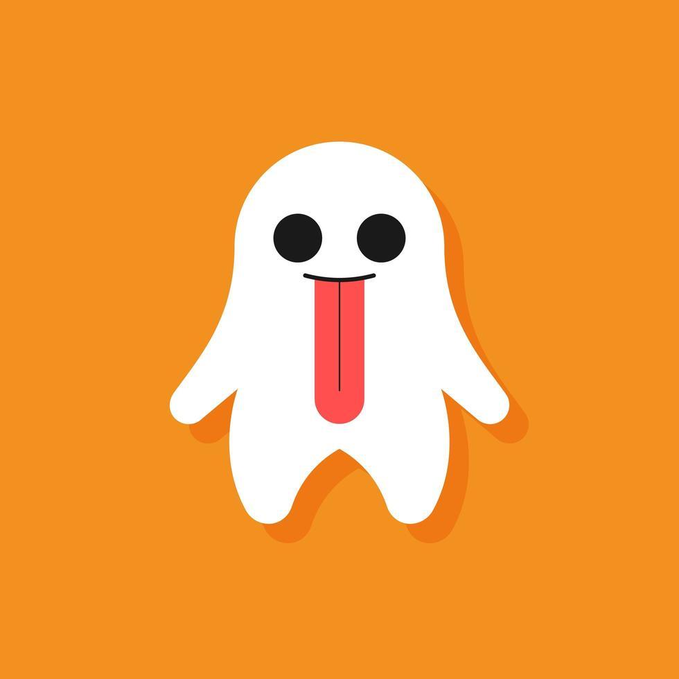 personagem de desenho animado de fantasma fofo de halloween vetor
