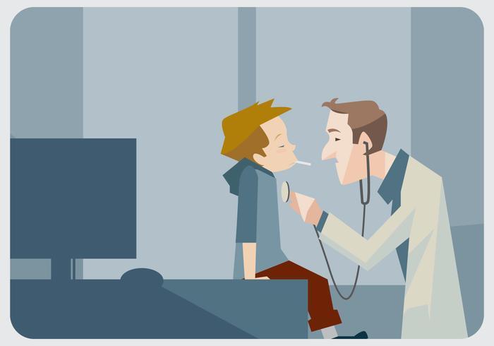 Pediatra que verifica seu vetor paciente