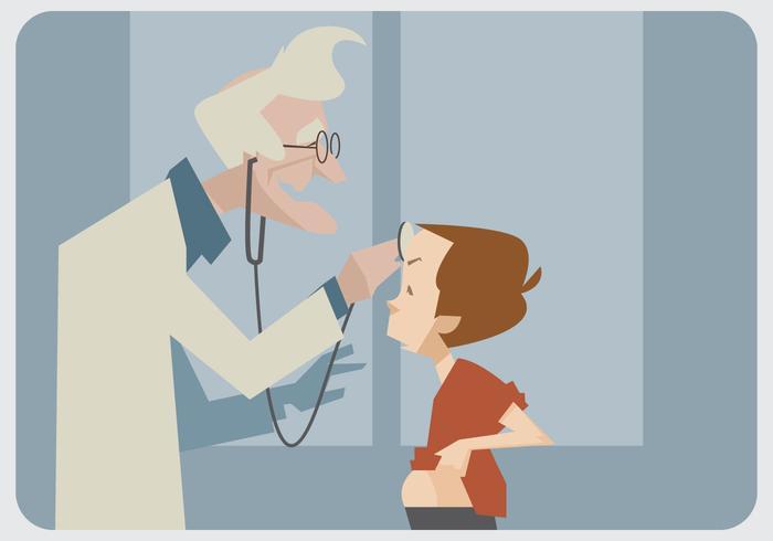 Vetor pediatra antigo