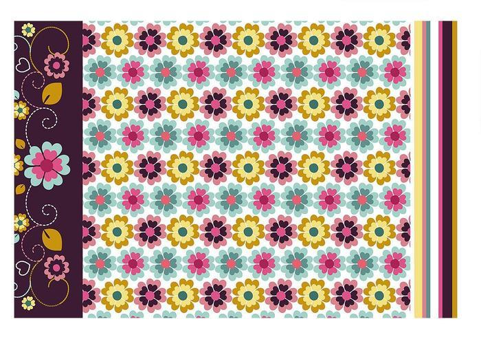 Pacote de papel de parede floral e vetor de padrões