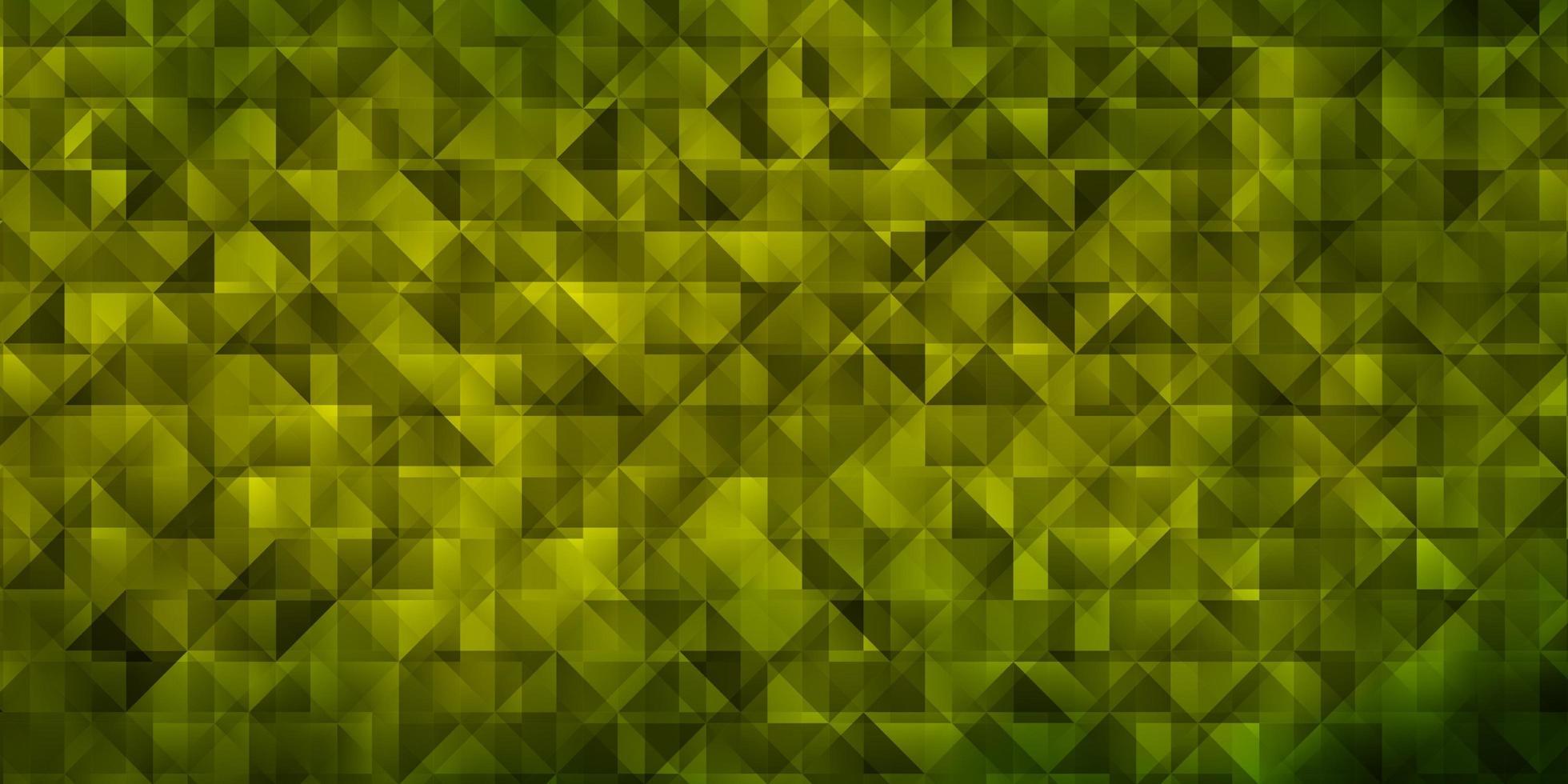 de fundo vector verde e amarelo claro com triângulos.