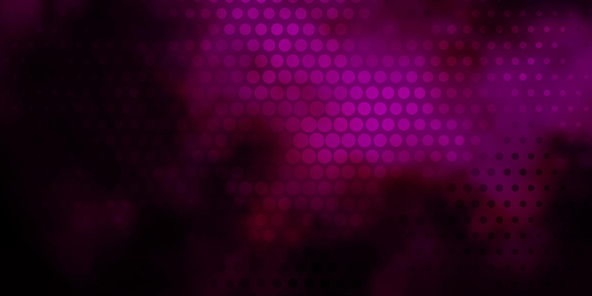 textura vector rosa escuro com discos.