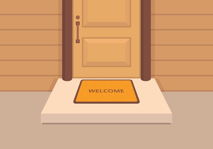 bem-vindo ilustração do tapete vetor