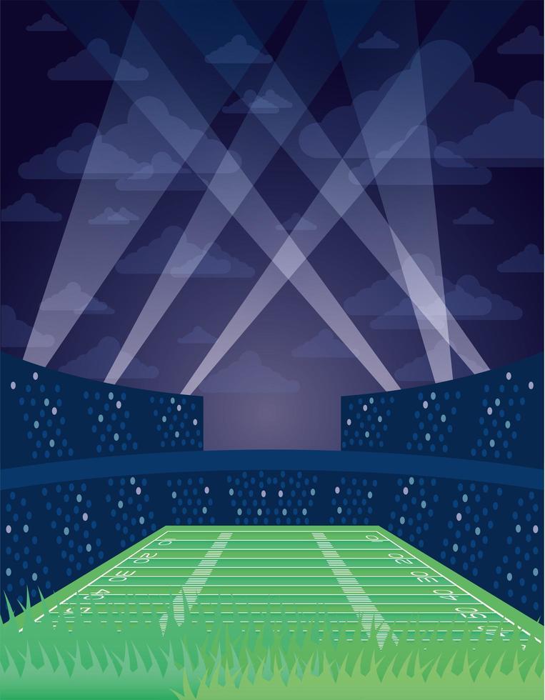 ícone da cena do campo de futebol americano vetor