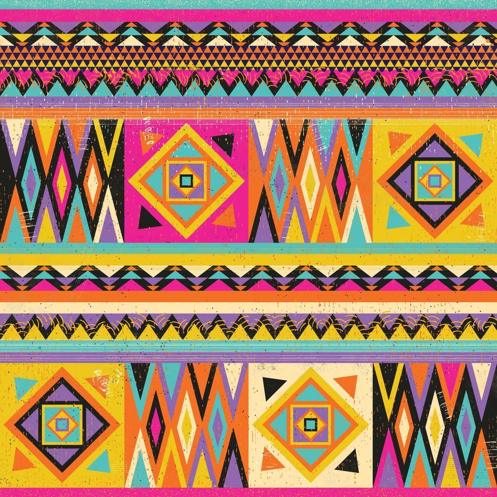 design têxtil colorido africano. desenho de estampa em tecido kente, cultura africana vetor