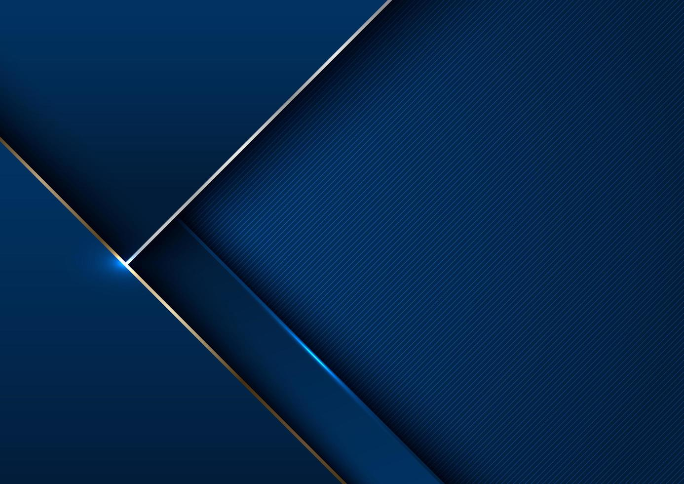 abstrato elegante modelo geométrico azul com ouro metálico vetor