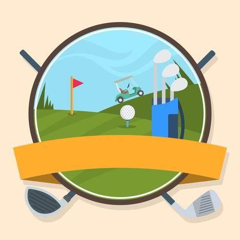 Vetor de golfe vintage distintivo