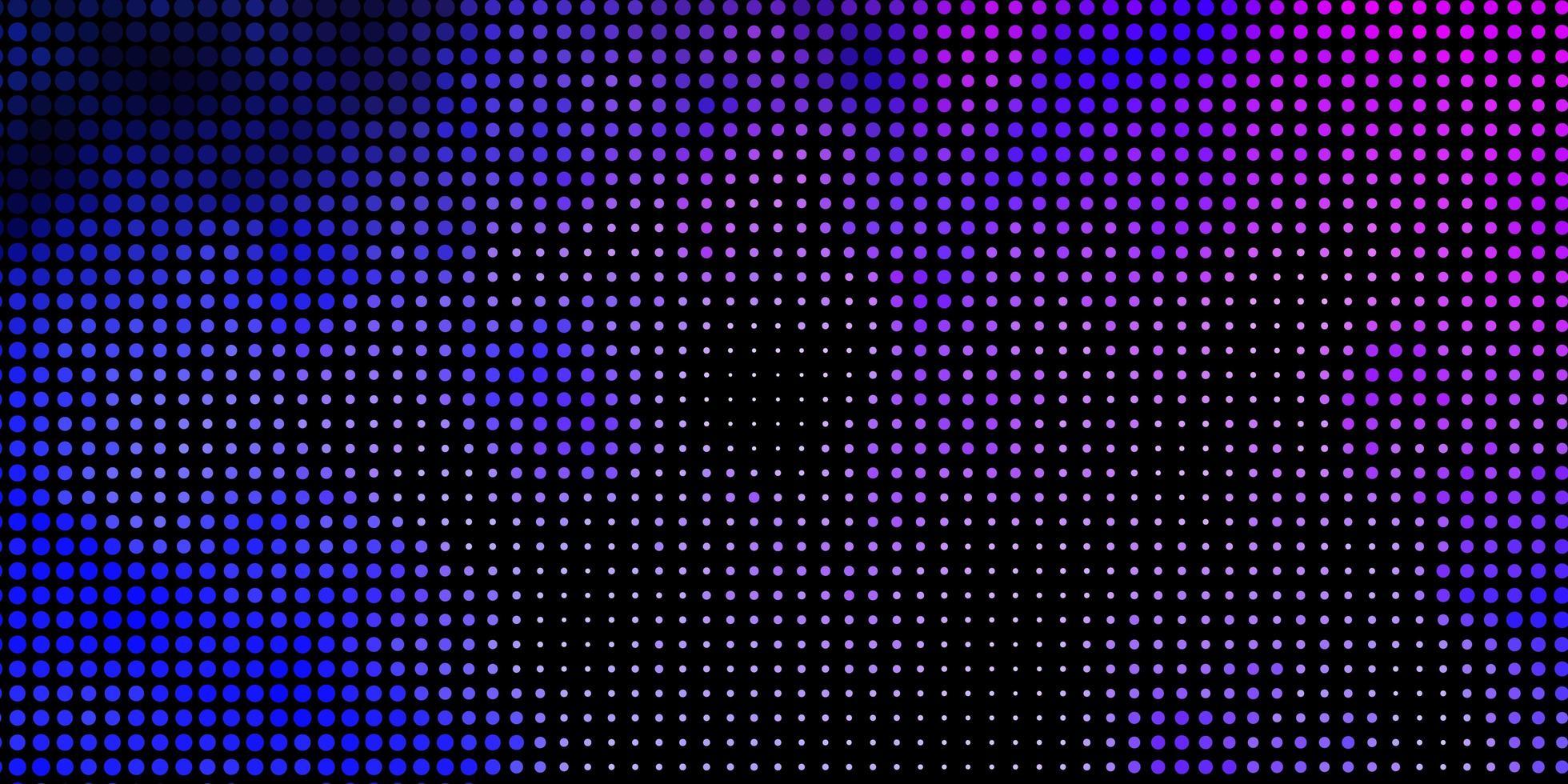 layout de vetor rosa claro, azul com formas de círculo.