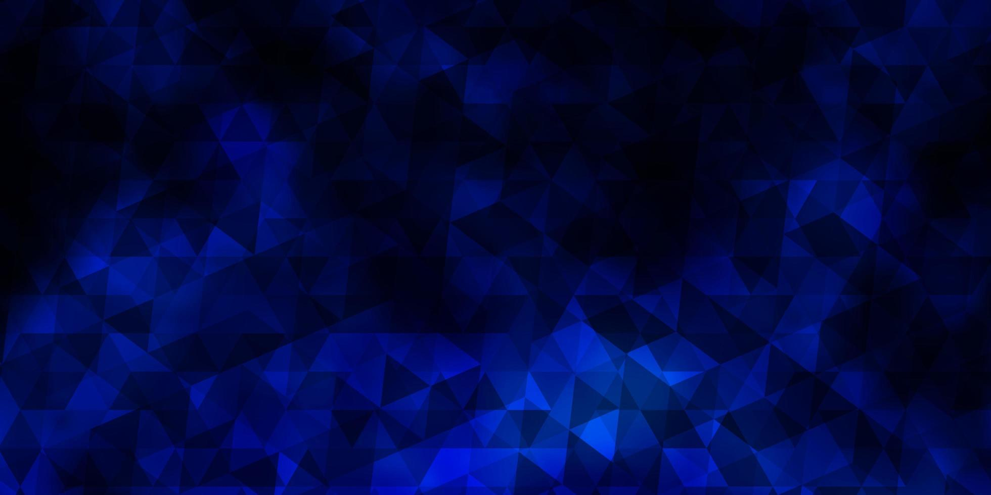 fundo vector azul escuro com triângulos.