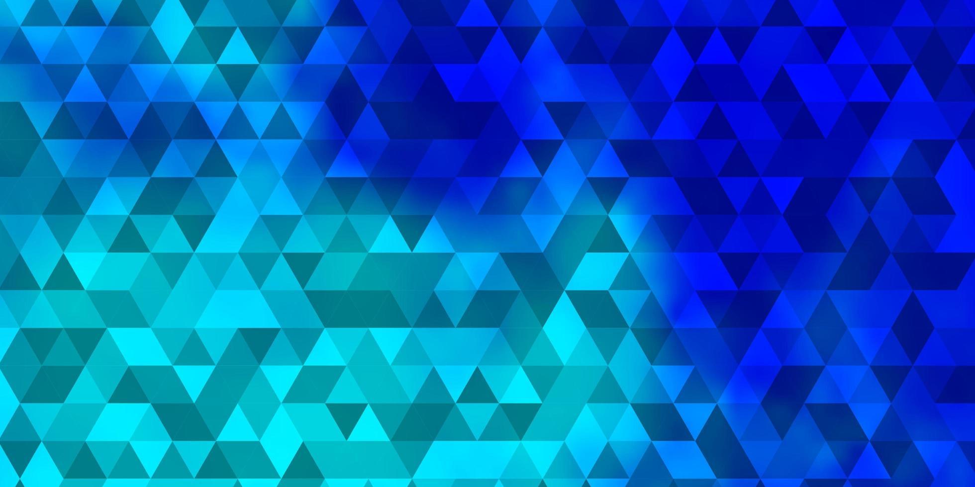 pano de fundo azul claro do vetor com linhas, triângulos.