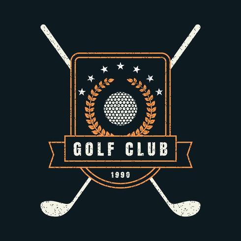Emblema retro do clube de golfe vetor